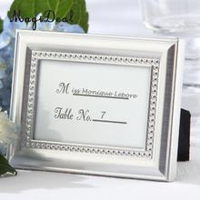 MagiDeal pequeño Vintage 2,8*1 pulgadas marco de foto estilo lugar Tarjeta De Nombre titular de la tarjeta de la Mesa de boda plata/oro-regalos geniales