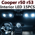 15pcs X free shipping Error Free LED Interior Light Kit Package for MINI Cooper r50 r53 S/JCW accessories 2001-2006