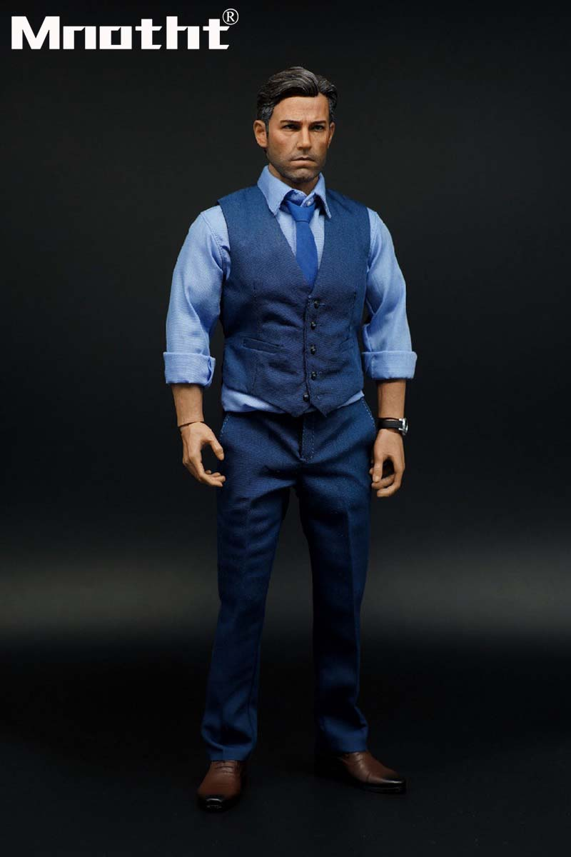1:6 Scale Blue Male Soldier Suit Set Clothes Action Figure Toys Collection m5 Hobbies