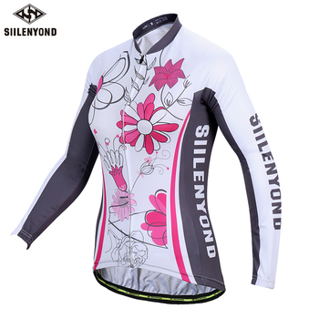 Siilenyond 2019 Winter MTB Bike Cycling Clothing Keep Warm Cycling Jersey Mountain Bicycle Cycling Clothes For Women