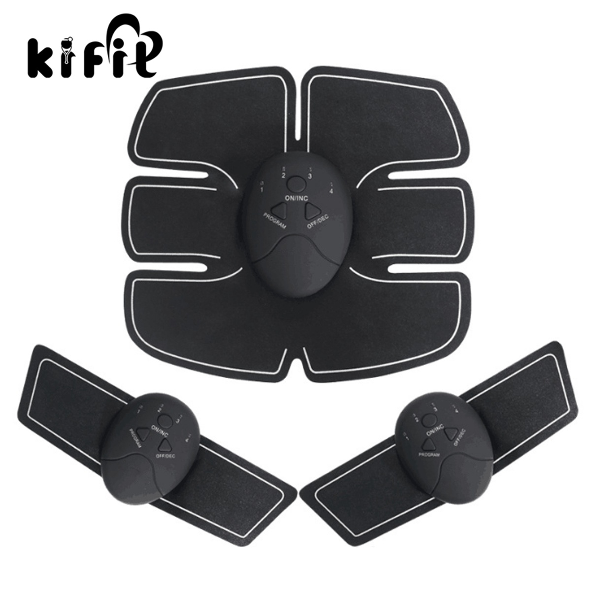 Kifit Electrical Muscle Training Gear Body Fitness Abdomen / Arm Exercise Healthy Care Electric Weight Loss Slimming Massager hot healthy household bicycle super mute younger dynamic magnetic bike fitness equipment pedal bicycle exercise to lose weight