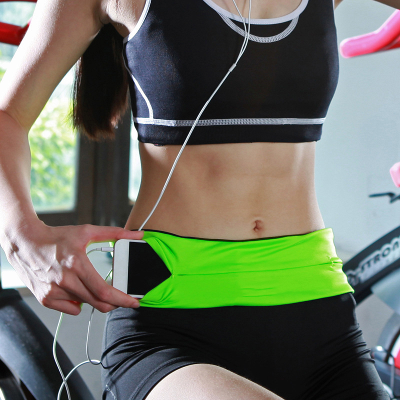 Профессиональная поясная сумка для бега, для мужчин и женщин, для бега, для тренажерного зала, для езды на велосипеде, спортивный пояс, невидимый мобильный телефон, кошелек для живота, поясная сумка