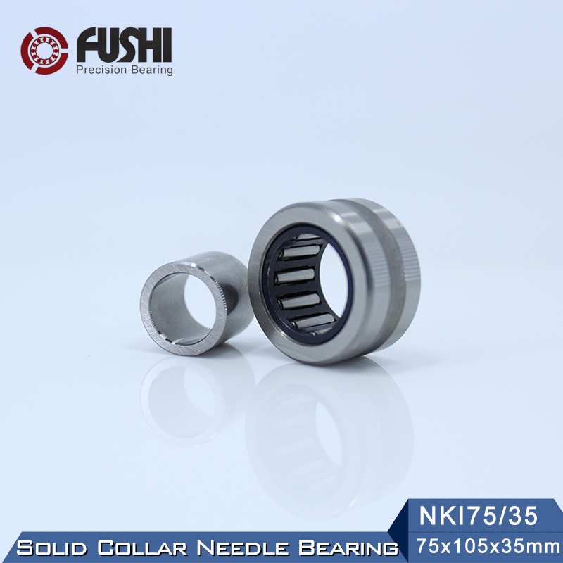 NKI75/35 Bearing 75*105*35 mm ( 1 PC ) Solid Collar Needle Roller Bearings With Inner Ring NKI 75/35 Bearing цена