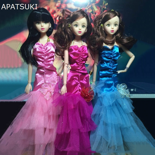 1:6 Dolls Dress Gown Fashion Clothes For Barbie Doll Mermaid Tail ...