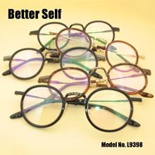 Better Self L9398 Acetate Temple Eyeglasses Designer Optical Glass Frame Women Retro Round