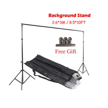 Хорошее качество 2.6M X 3M Pro Фотосъемка Фоновые системы Поддержка фона для фото-видео Студия + сумка для переноски