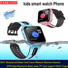 Waterproof Kids Smart Phone Watch GPRS Location SOS Call Remote Monitor Camera Bluetooth Wristwatch Tracker Students Music