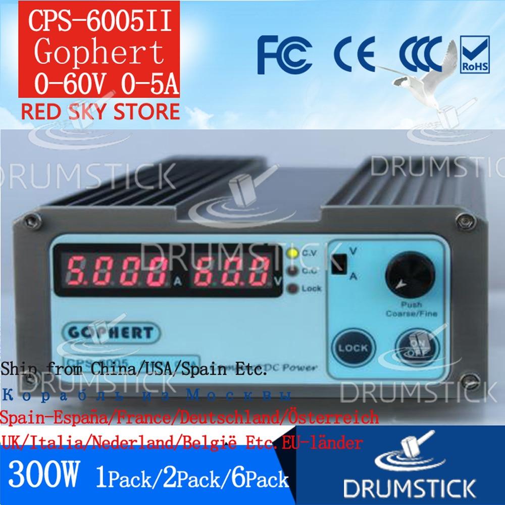 (3.28) gophert mini digital dc fonte de alimentação CPS-6005II ajustável 0-60 v 0-5a lockable CPS-6005 manutenção corretiva envelhecimento