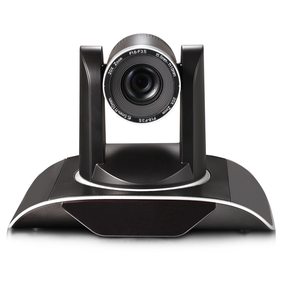 High Quality 1080P Wireless Video 3G-SDI DVI IP PTZ Wifi Conference Camera 20X Zoom Live Stream with audio interface image