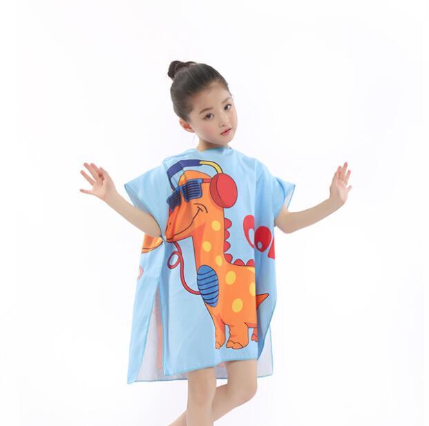 Новое поступление, Лидер продаж, летнее портативное пляжное банное полотенце из микрофибры с мультяшным рисунком, купальное полотенце с крышкой, быстросохнущая Мочалка для детей, 83*60 см - Цвет: 4
