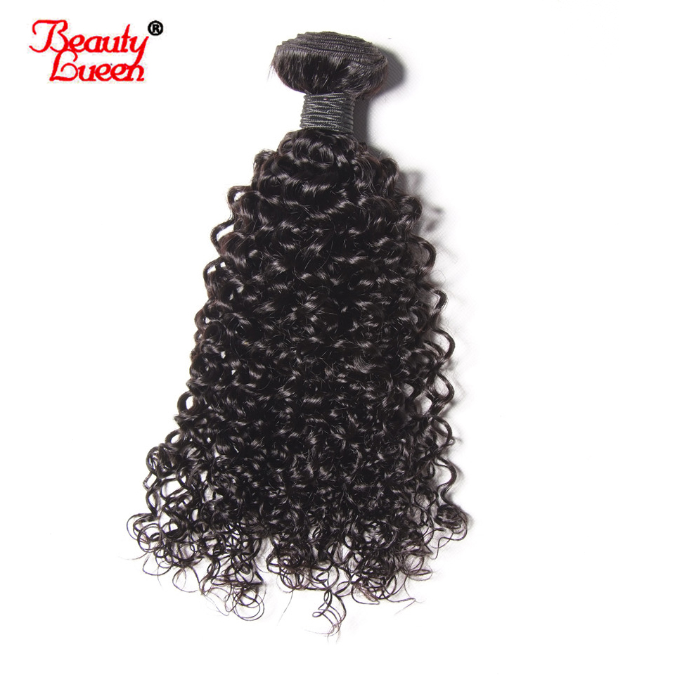 Beauty Lueen Malaysian Kinky Curly Hair Bundles 100% Human Hair Extensions Natural Black Color Non Remy Hair Weave Free Shippin