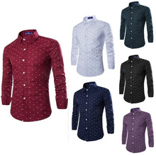sancherous 2019 Plaid Casual Long Sleeve 2 Colors Cotton Turn-down Collar Man Shirts