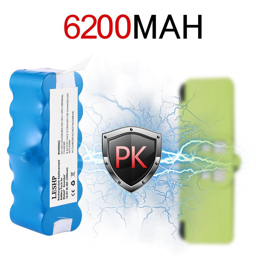 High Quality 14.4V 5200/6200/6800mAh Battery Capacity NI-MH Battery for iRobot Roomba Vacuum Cleaner 500 600 700 800 Series