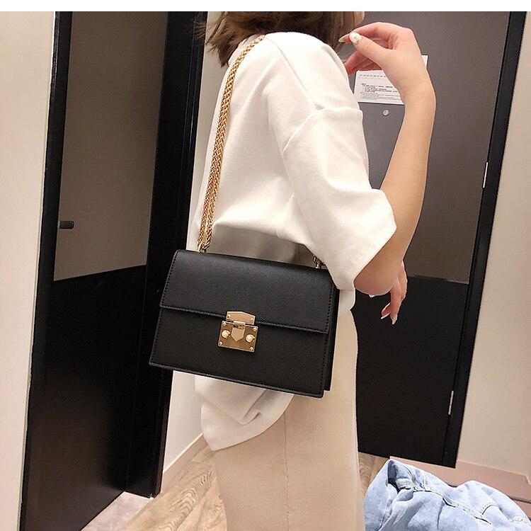 Elegante feminino pequeno quadrado saco 2020 moda