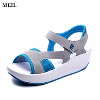 Platform Sandals Women Summer Sport Casual Sandals Mesh Breathable Shoes Ladies Platform Sandals Wedges Women Sandale