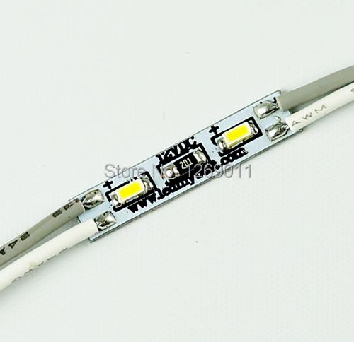 1000 via / branco natureza LED módulo, 24 x 5 mm / 12 V / 0.36 W Two Single Chip 3014 SMD resina módulo LED