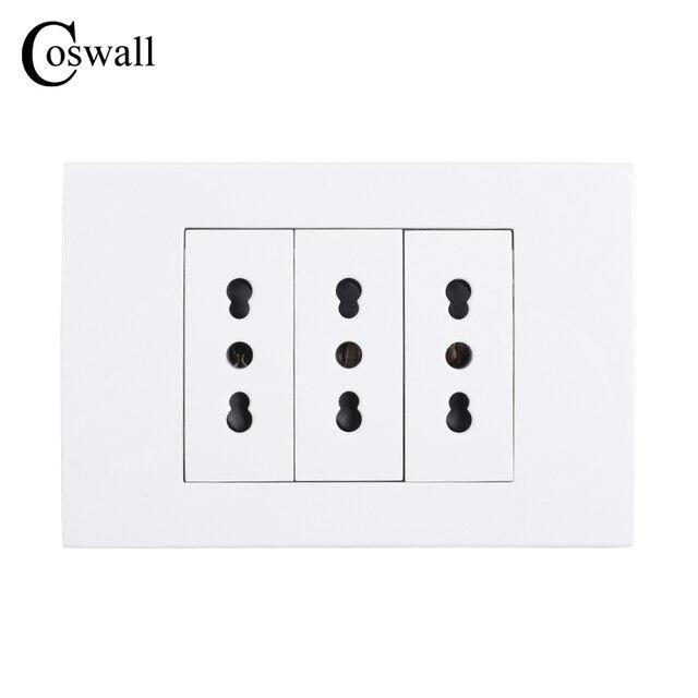 Aliexpress.com : Buy Coswall Wall Power Socket Plug 3 Way Italian ...