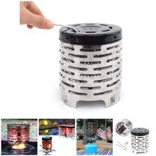 Portable Mini Camping Heater Cap Outdoor Gas Stove Cover Warmer Stainless Steel ASD88