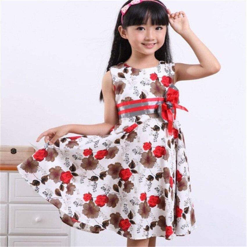 COSPOT Baby Girls Floral Dress Girl Summer Princess Birthday Party ...