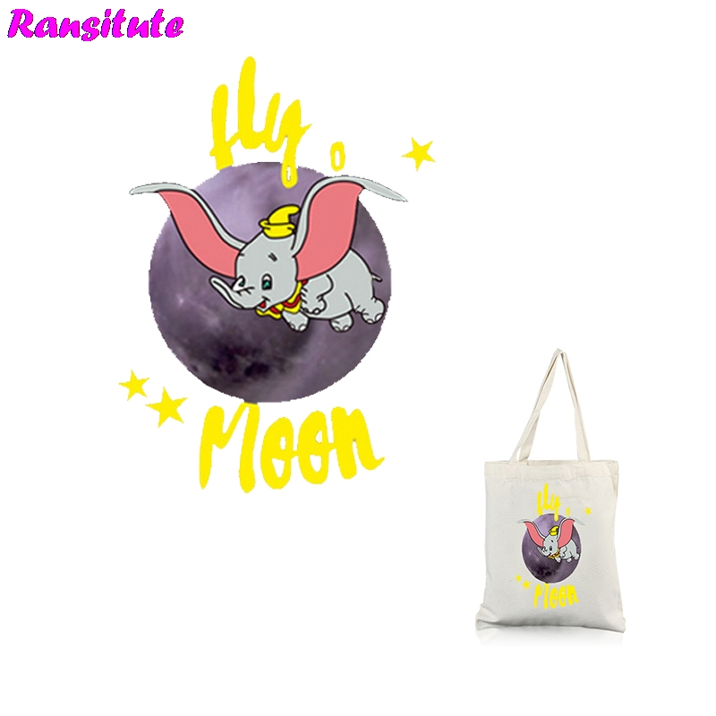 Ransitute R315 Dumbo Series 3 Clothing Printing Thermal Transfer T-shirt Applique Backpack Patch Washable Heat Transfer