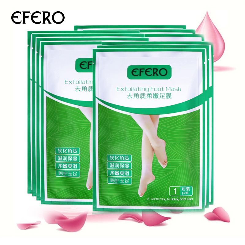 EFERO 4PC=2Pack Peeling Foot Mask Exfoliating Socks For Pedicure Socks Feet Masks For Legs Cream For Heels Remove The Skin