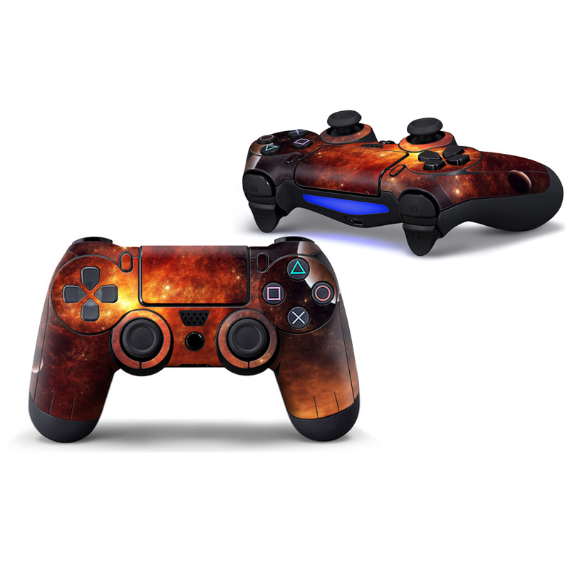 2 PCS Starry Skin Sticker for PS4 Controller Skin Protective Cover Game Controller Sticker for PS4 For playstation 4
