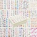 60 hoja mezcló los estilos de marca de agua de la pluma de la historieta pegatinas Nail Art transferencia de agua consejos belleza tatuajes tatuajes temporales herramientas