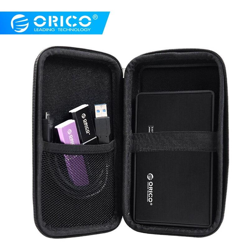 ORICO  PHE-25 2.5 Inch External Hard Drive Carrying Case Electronics Accessories Travel Organizer Storage Bag - Black