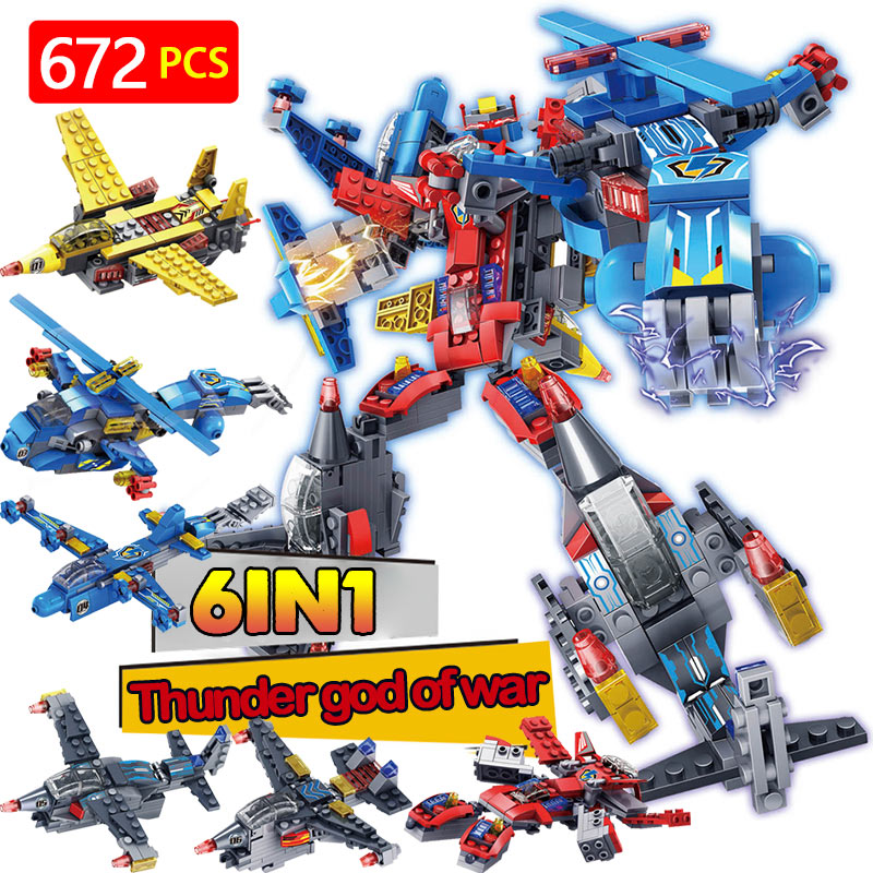 Transformation LegoINGLYS Military Fighter Technic Building Blocks Mini Action Figures Bricks Enlightening Toys For Children 120pcs new building blocks self locking bricks after completion of transformation can change shape compatible legoinglys toys