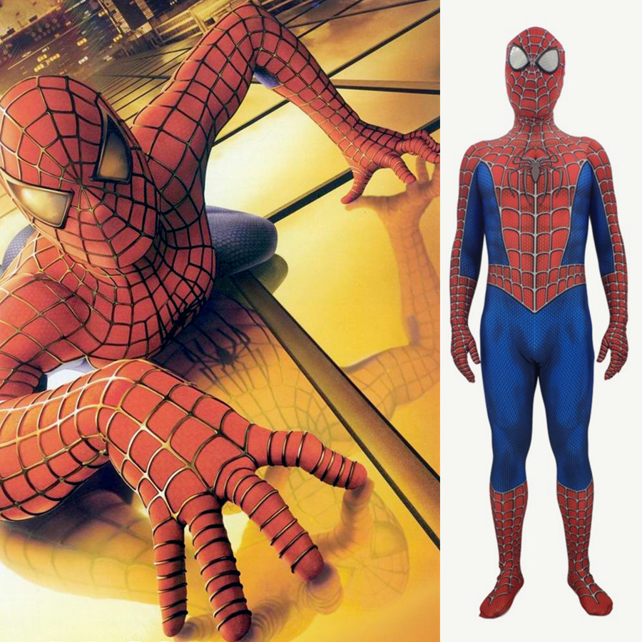 Toby Amazing 3D Spiderman Men/'s Zentai Suit Cosplay Costume Halloween Jumpsuit