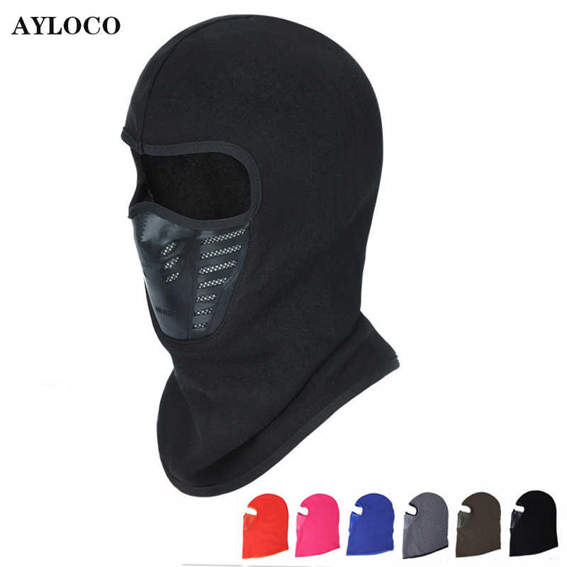 Winter Warm Motorcycle Windproof Face Mask Motocross Face masked Mask Outdoor Sport Hiking Warm Bicycle Thermal Fleece Balaclava