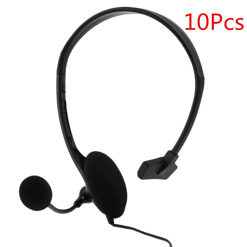 10Pcs New Fashion 3.5mm wired Gaming Headset Headphone Earphone + Microphone Mic Accessories for PS4 computer Black high quality wired headphone for ps4 gaming headset headphone microphone mic chat for playstation 4 ps4 black