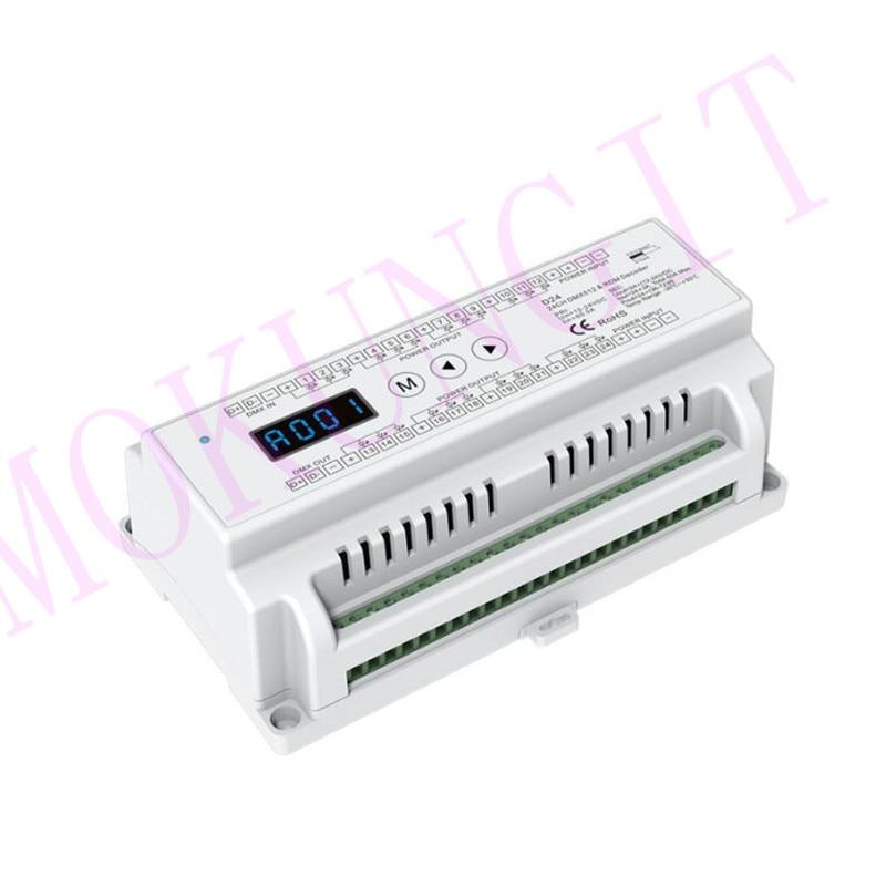 24CH * 3A 12 24VDC Cv Dmx Decoder D24 DMX512 24 Kanaal Geleiding Pwm Constante Spanning Decoder D24 Decoder DMX512 Project-in RGB Controlers van Licht & verlichting op title=