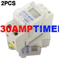 FREE SHIPPING SINOTIMER 30AMP LOAD 220V Programmable Digital TIMER SWITCH Relay