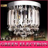 Modern LED Crystal Ceiling Lamp European K9 Crystal Lamp Porch Living Room Balcony Aisle Lights Foyer