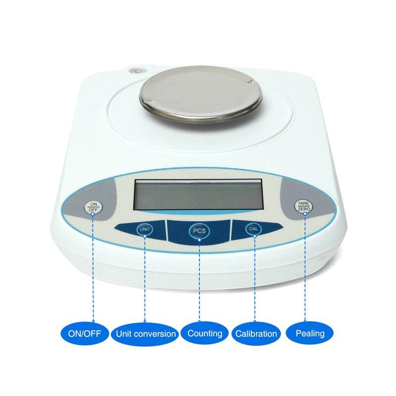 Balance analytique de laboratoire 1000g 0.01g Balance de précision numérique Balance de bijoux de précision électronique Balance de poids Balance analytique - 3
