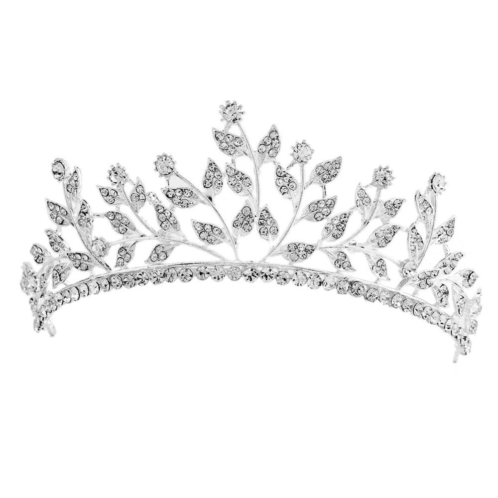 Dazzling Rhinestones Hari Jewelry For Bridal Sliver Wedding Tiaras Girls Crown Headwear Adornos Para El Pelo H228 Jewelry Sets & More