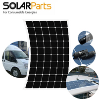 Solarparts 180W Semi Flexible Solar Panel With High Efficiency Solar Cell Solar Module For 12V Battery