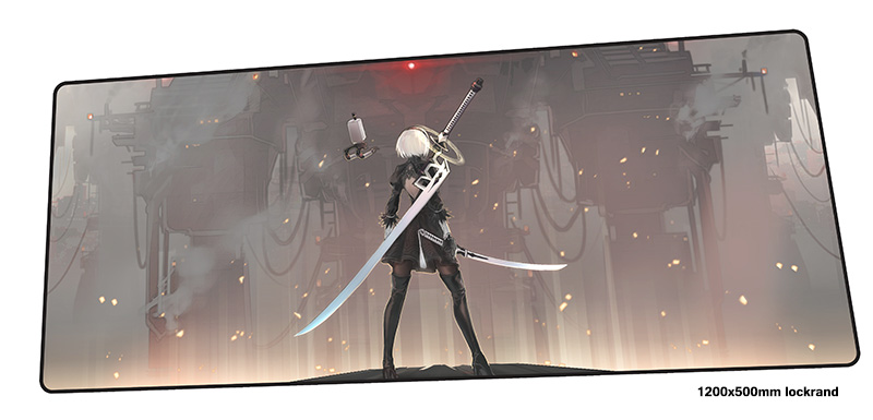 nier automata mousepad 1200x500mm Cartoon gaming mouse pad gamer mat Gorgeous game computer desk padmouse keyboard play mats