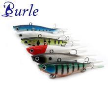 Burle Fishing lur 6pcs/lot Lead Soft VIB Lure Vibrant Vibrating Bait Bass Shad Softbait Type 95mm/21g