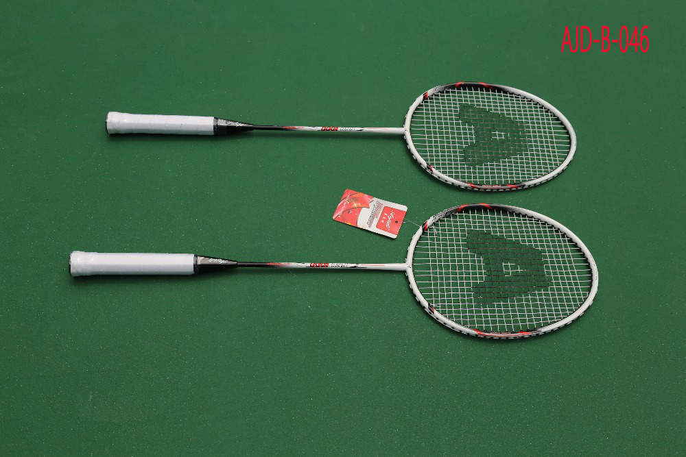 Professional Factory Wholesale A Pair of  Badminton Racket With Bag Men Women Sports Training Rackets