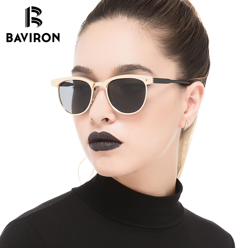BAVIRON Hot Sale Hipster Women Sunglasses Polarized Semi Rimless Frame Sun Glasses Fashion Alloy High Quality Gafas Oculos
