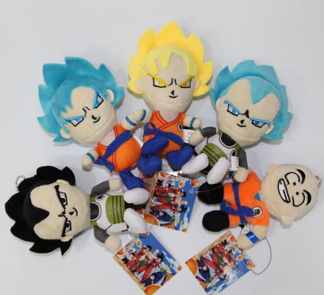 Dragon Ball Z Plush Toys Super Saiyan Son Goku Vegeta Soft Stuffed Doll Anime DBZ
