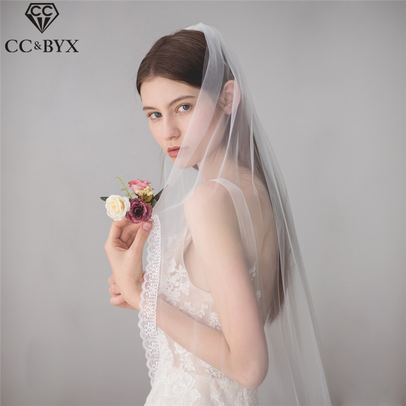 Mega Discount 6398 Cc Wedding Jewelry Long Lace Hair Veil 100