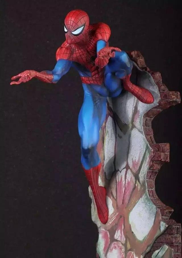 Oyuncaklar ve Hobi Ürünleri'ten Aksiyon ve Oyuncak Figürleri'de Çılgın Oyuncaklar Marvel İnanılmaz Örümcek Adam Avengers PVC Koleksiyonu Heykeli şekilli kalıp Oyuncaklar'da  Grup 1