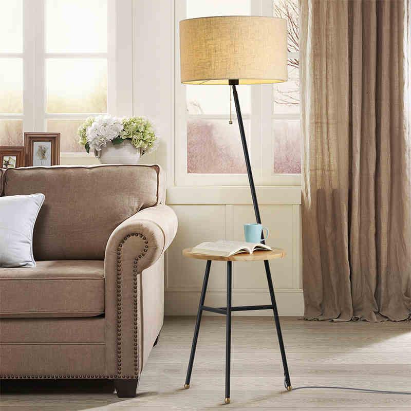 Wooden Floor Lamp Modern Living Room Bedroom Study Floor Standing ...