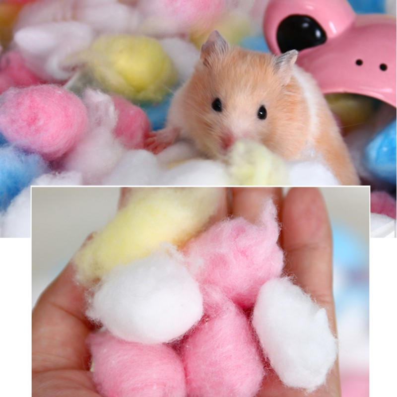 100pcs Natural Breathable Lightweight Balls Toy Hamster Small Animal Breathable Winter Warm Hamster Cage House Filler Supply