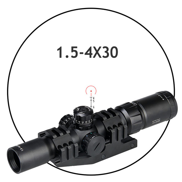 PPT Tactical Hunting optics rifle sight red / green / blue illuminated 1.5-4X30 hunting rifle scopes for airsoft gun GZ1-0246