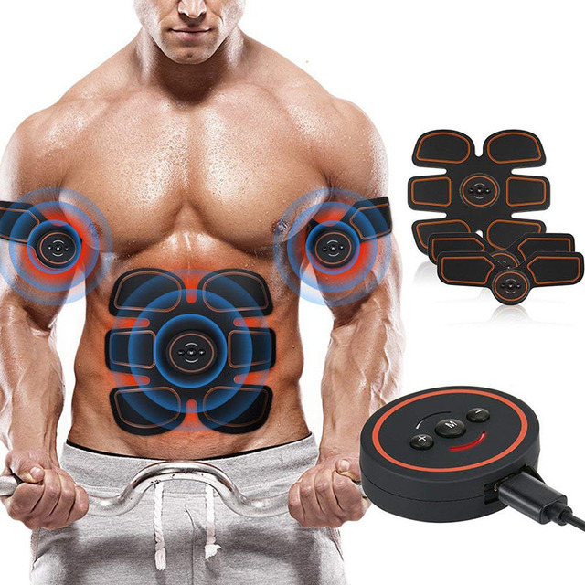Cinto Abdominal Eletro Estimulador Muscular Elétrica EMS Massager Máquina de Aparelhos de Treinamento de Fitness Ginásio Pernas Braço Slimming Shaper