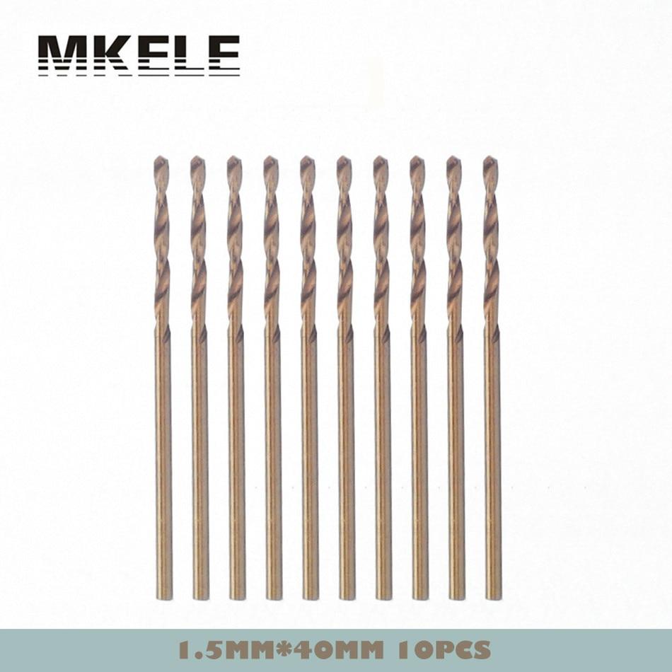 ФОТО Wood Drill Bits 1.5mm 10pcs/box Straight Shank HSS Steel Twist Woodworking For Metal Tools High Quality Herramientas Ferramentas